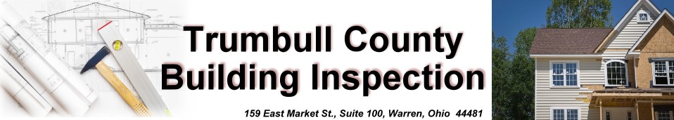 Heading introducing Trumbull County Building Inspection.